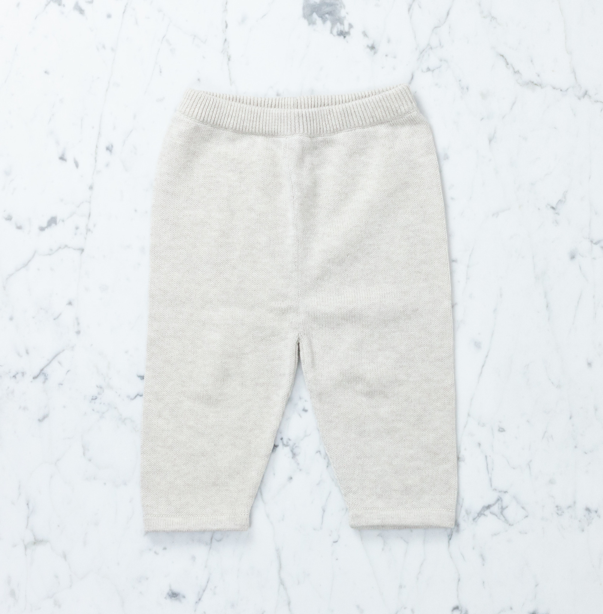 Tane Organics Sweater Knit Pants - Chalk - 18-24 month