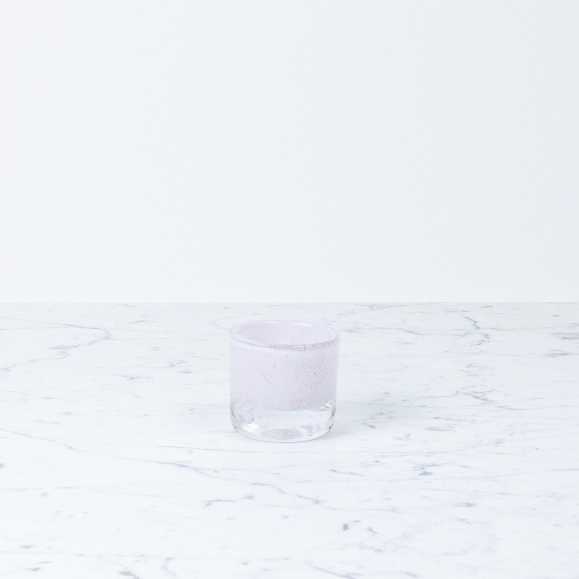 "Henry Dean Mary Votive Holder - Rosebud Lavender Pink - 2 1/2"""