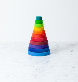 Grimm's Toys Large Conical Rainbow Tower - 8 1/4""