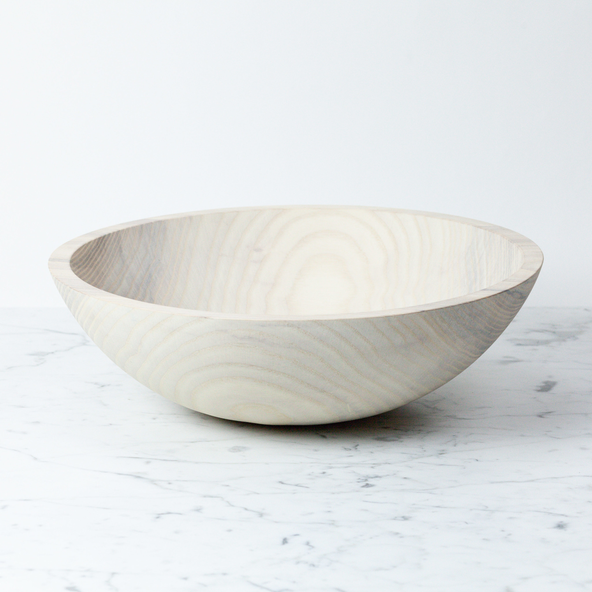 Vermont Turned Ash Bowl - White - 15""