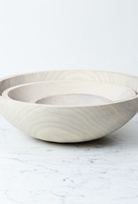 Vermont Turned Ash Bowl - White - 7""