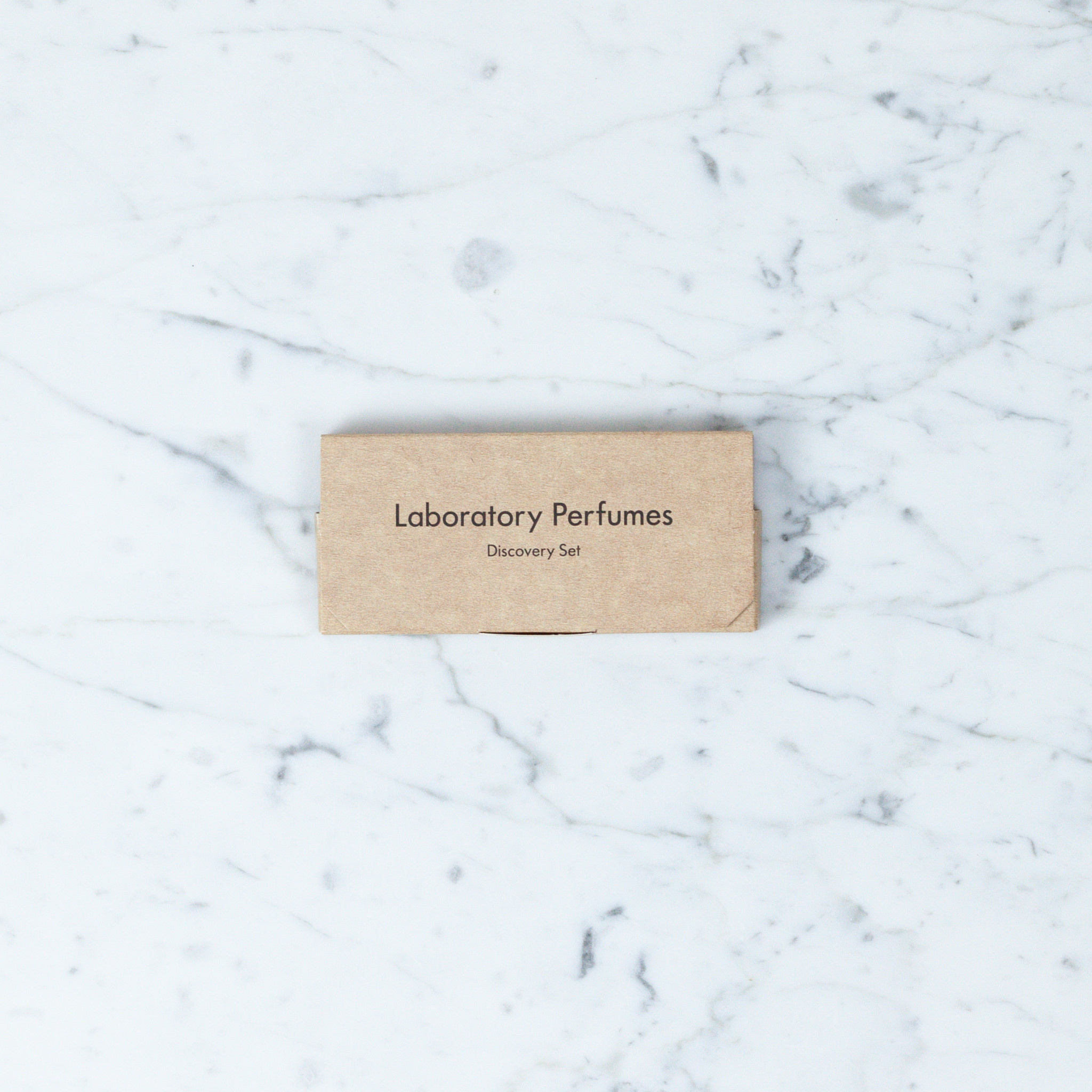 Box Set Of Labratory Perfume Mini-Spray Testers: Amber, Gorse, Samphire And Tonka