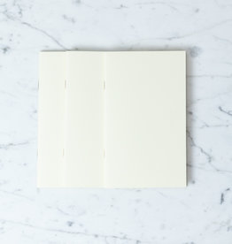 Midori Simple Notebook B6 - Blank - 3 Pack