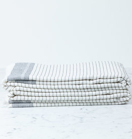 "Serina Turkish Terry Bath Towel - Off White Stripe - 35 x 60"""