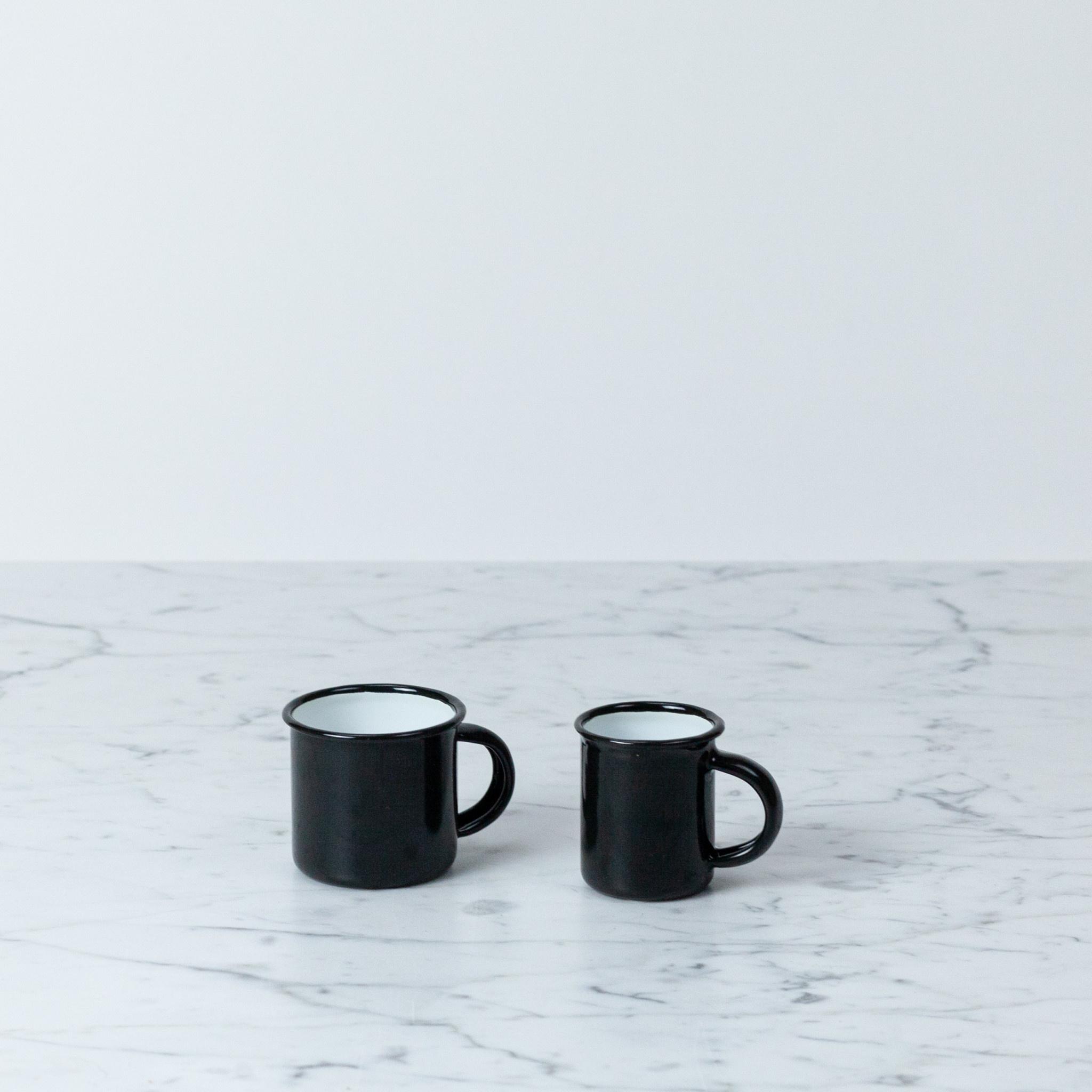 """Enamel Mug - Black - Small - 2"""""""