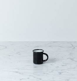 Enamel Mug - White - Black - 1 1/2""