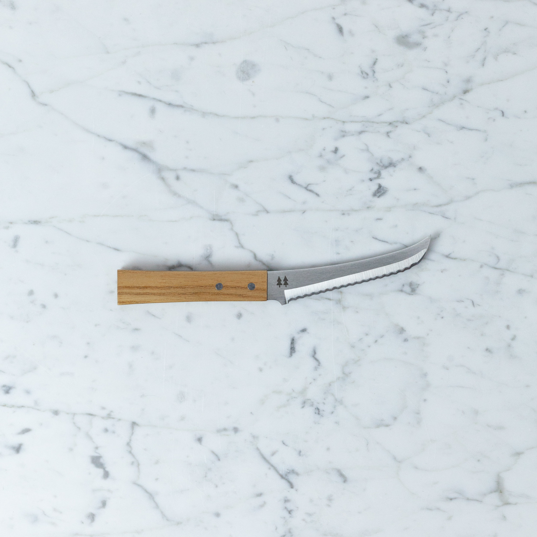 "Morinoki Serrated Cheese Knife - 4 1/2"" blade"