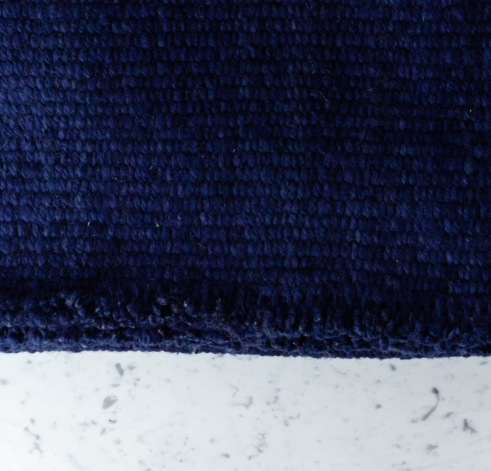 "Elementos Argentinos Handwoven Sheep Wool Rug - Blue - 60 x 83"""