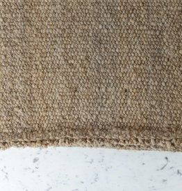 Handwoven Thick Sheep Wool Rug - Sand - 32 x 78""