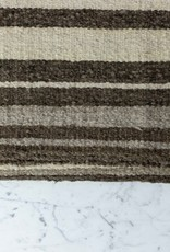 "Handwoven Sheep Wool Rug - Stripes - 55 x 73"""