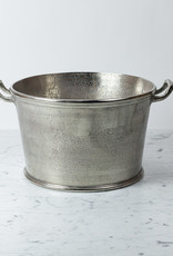 """Round Champagne Bucket or Planter Vessel with Handles - 11 x 15"""""""