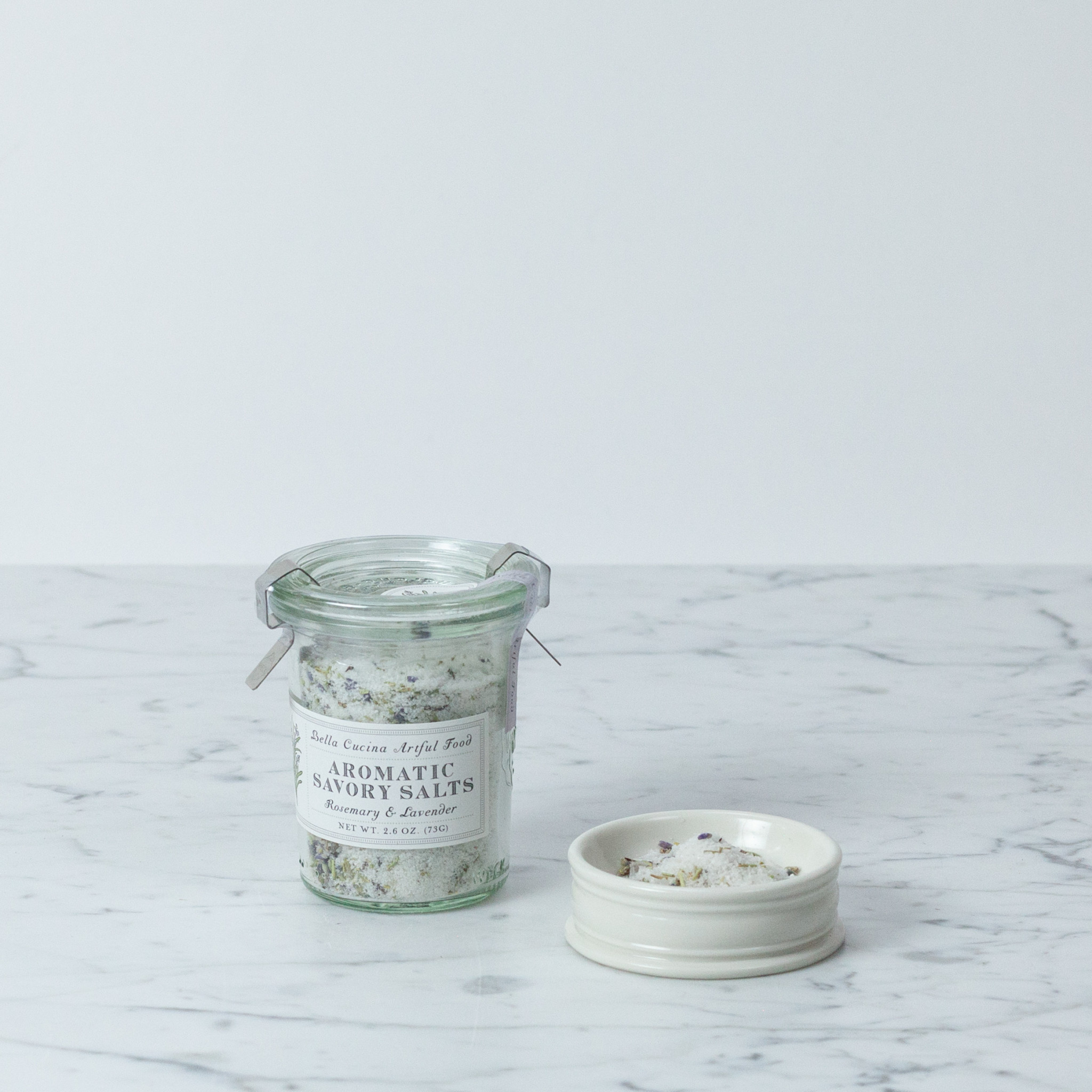 Bella Cucina Rosemary + Lavender Savory Salt in WECK Jar - 2.6oz