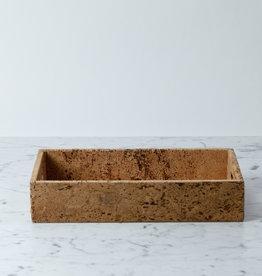 "BIDKhome / Serax Cork Rectangular Tray with Handles - Small - 8 x 13"""