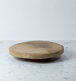 Thick Natural Mango Wood Lazy Susan - 15""