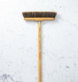 "Split Horsehair Indoor Broom with Handle - 11.75"" x 4.5 ft"