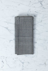 TENSIRA Handwoven Cotton Napkin - Black + White Gingham - 19 x 19 in