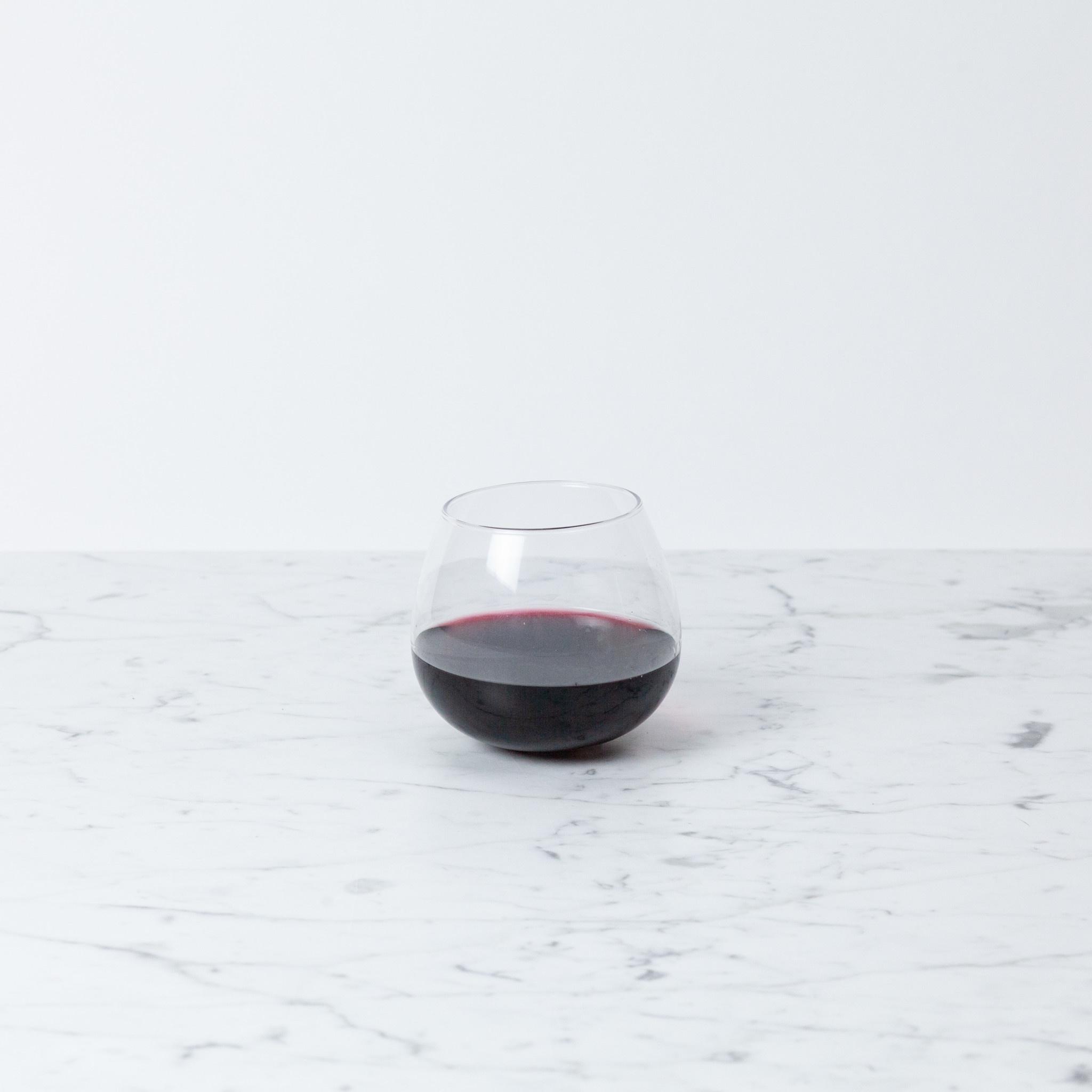 Japanese Wobbling Round Bottom Wine Glass - 17 oz