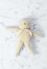 Polka Dot Club Handmade Bear Stuffed with Cotton - Cream Mohair