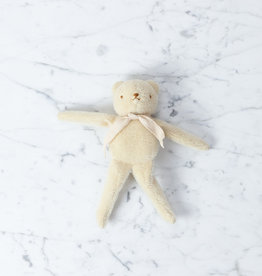 Polka Dot Club Handmade Bear Stuffed with Cotton - Cream Mohair