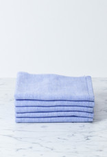 Two Tone Chambray Washcloth - Light Blue Square