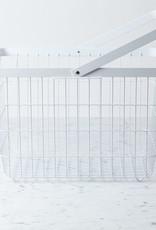 "Yamazaki Home Tower Metal Storage Basket Hamper with Single Handle - Medium - 15 x 11 x 10"""