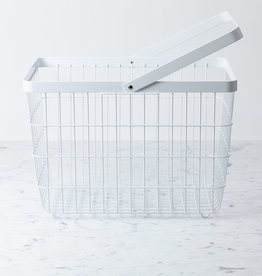 Yamazaki Home Tower Metal Storage Basket Hamper with Single Handle - Medium - 15 x 11 x 10""