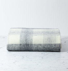 Wool Meadow Throw - Slate and Cream - 60 x 72""