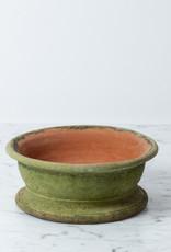 """Campo De Fiori Naturally Mossed Terracotta Round Bulb Planter Small - 8.25"""""""