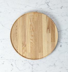 "Hasami Ash Wood Round Tray - Extra Large - 11 3/4"" x 3/4"""