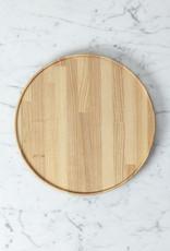 "Hasami Ash Wood Round Tray - Large - 10"" x 3/4"""