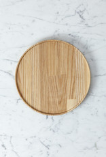 "Hasami Ash Wood Round Tray - Medium - 8 1/2"" x 3/4"""