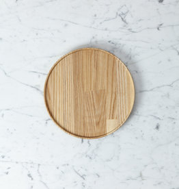 "Hasami Ash Wood Round Tray - Medium - 8 1/2"" x 3/4"""