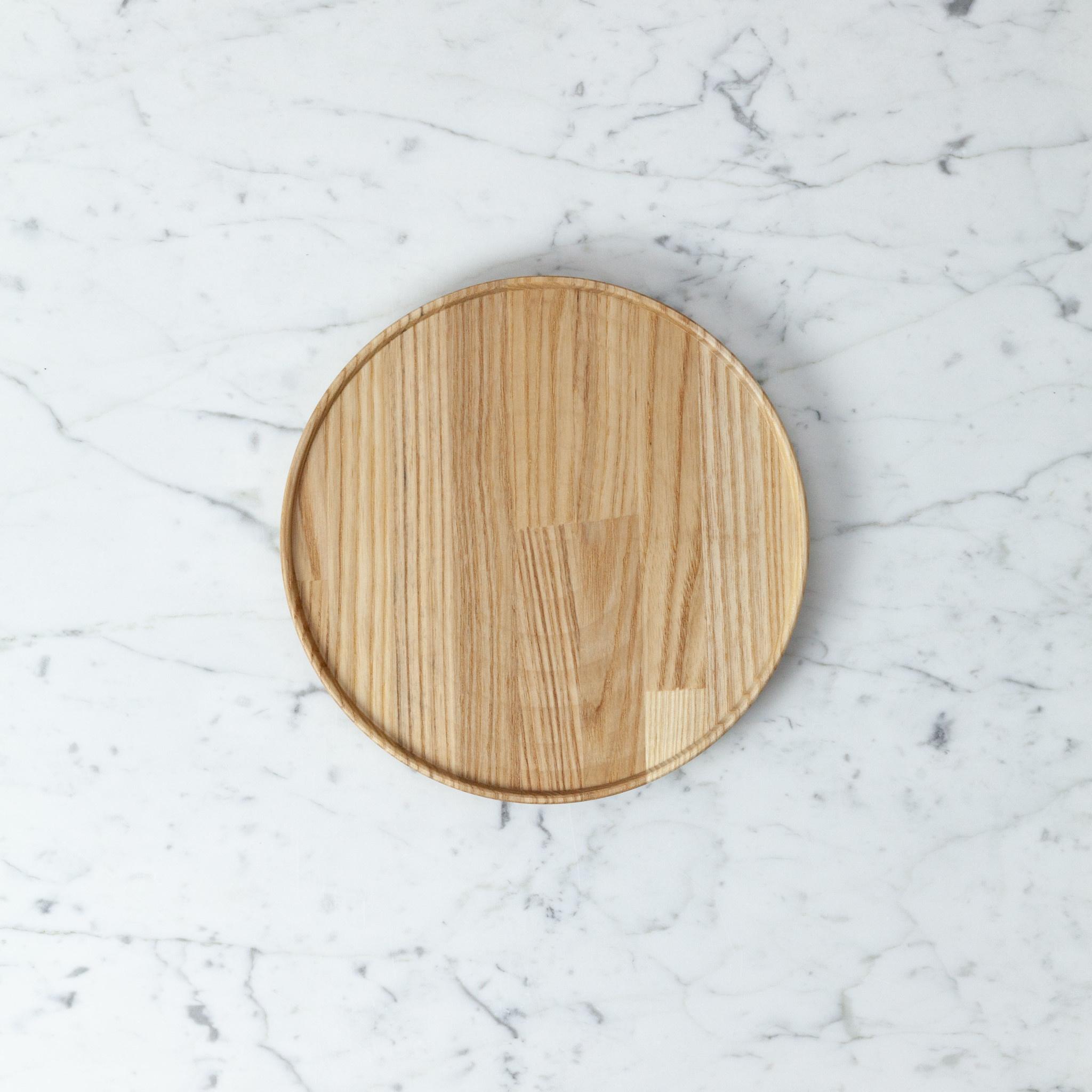 "PREORDER Hasami Ash Wood Round Tray - Medium - 8 1/2"" x 3/4"""