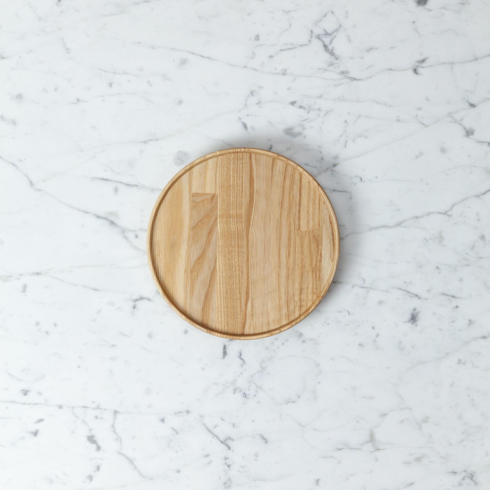 "PREORDER Hasami Ash Wood Round Tray - Small - 7 1/4"" x 3/4"""