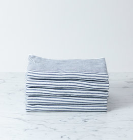 Shirt Stripe Hand Towel - Navy Breton Stripe