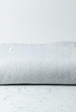 "Brahms Mount Milo Cotton Blanket - King - Heather Grey - 110 x 90"""