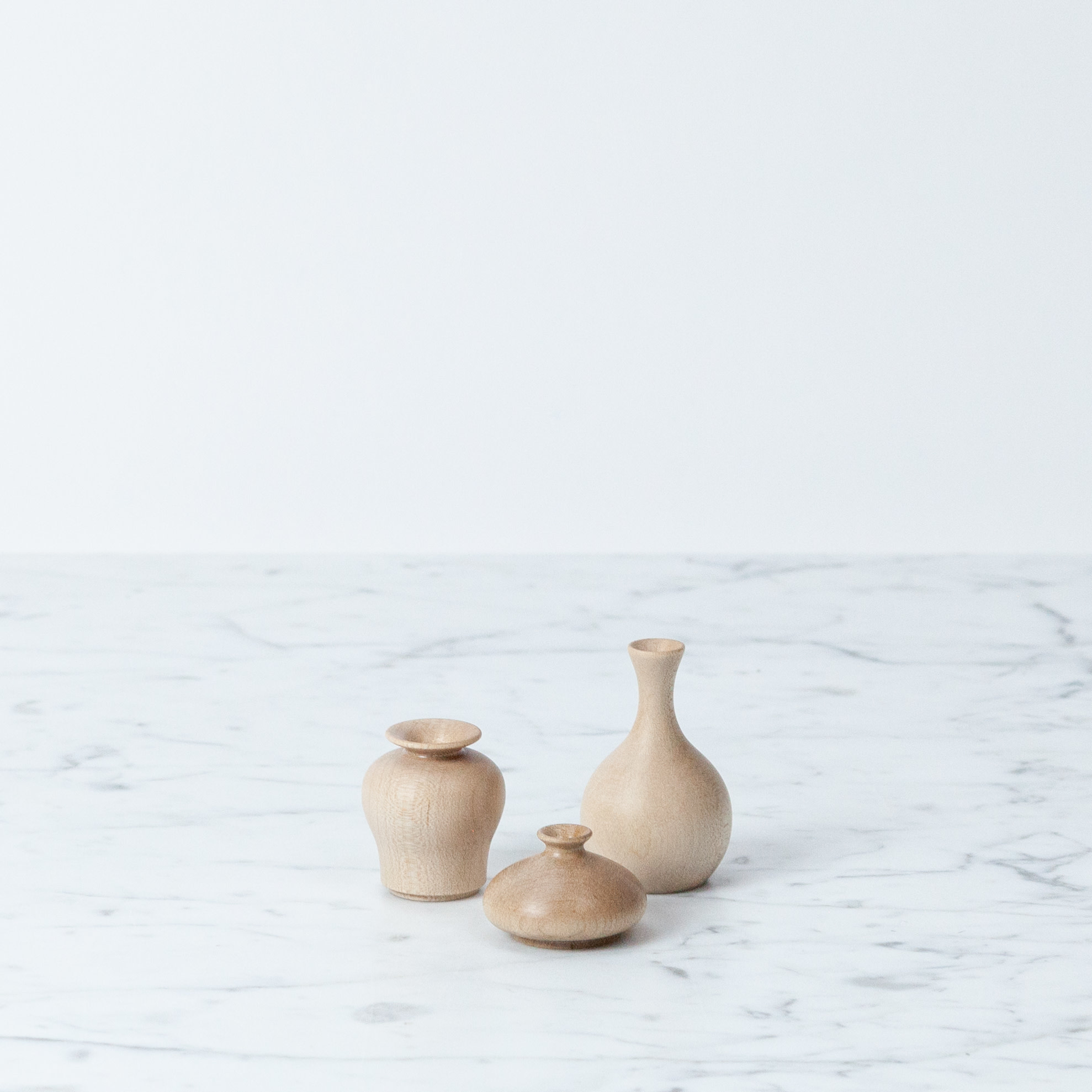 akarino-tane Small Maple Flower Vase - Crane