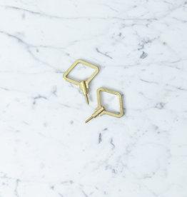 """FUTAGAMI Futagami Ihada Brass Diamond Wall Hooks - Large - 2"""""""