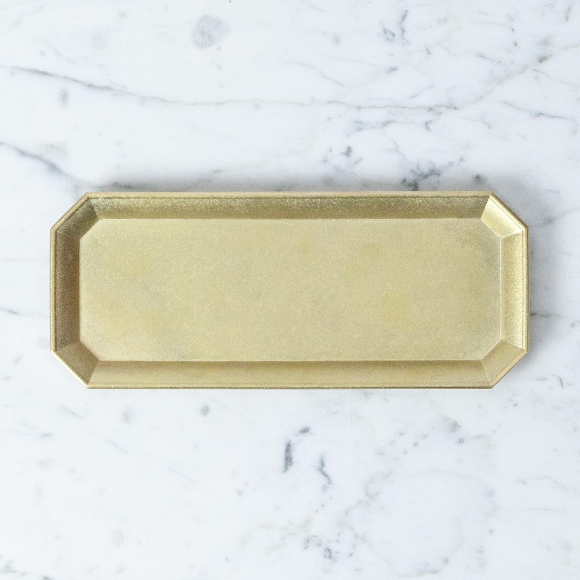 "FUTAGAMI Futagami Brass Stationery Tray - Large - 8.25"""