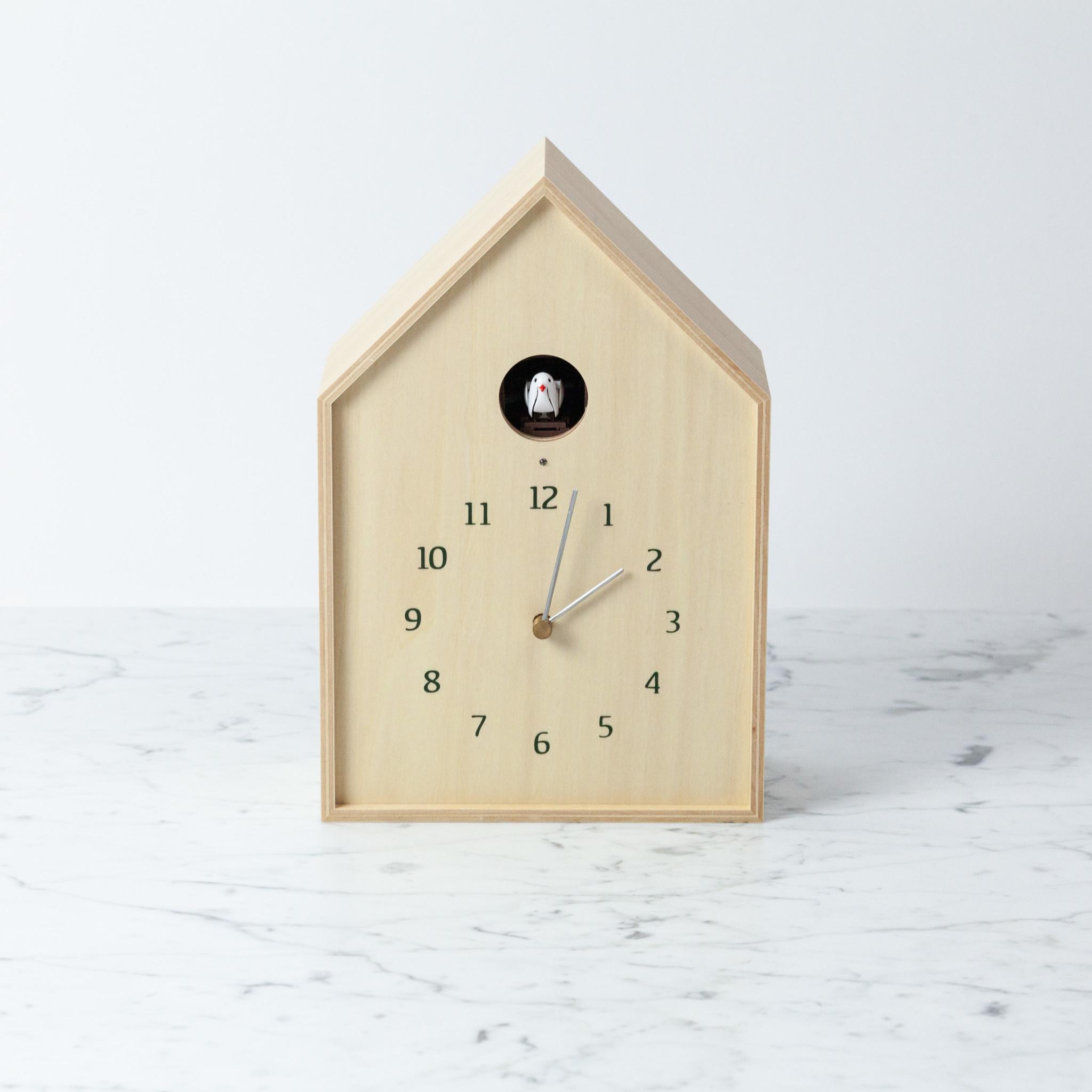 Birdhouse Clock - Natural
