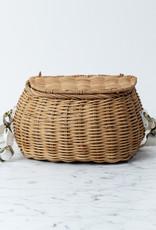 "Mini Chari Basket with Strap - Natural - 9 x 6"""