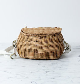 Mini Chari Basket with Strap - Natural - 9 x 6""