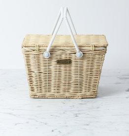 "Picnic Basket - Straw - 9 x 6"""