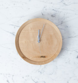 """Wormy Wood Recycled Maple Clock - Round - 8.25"""""""