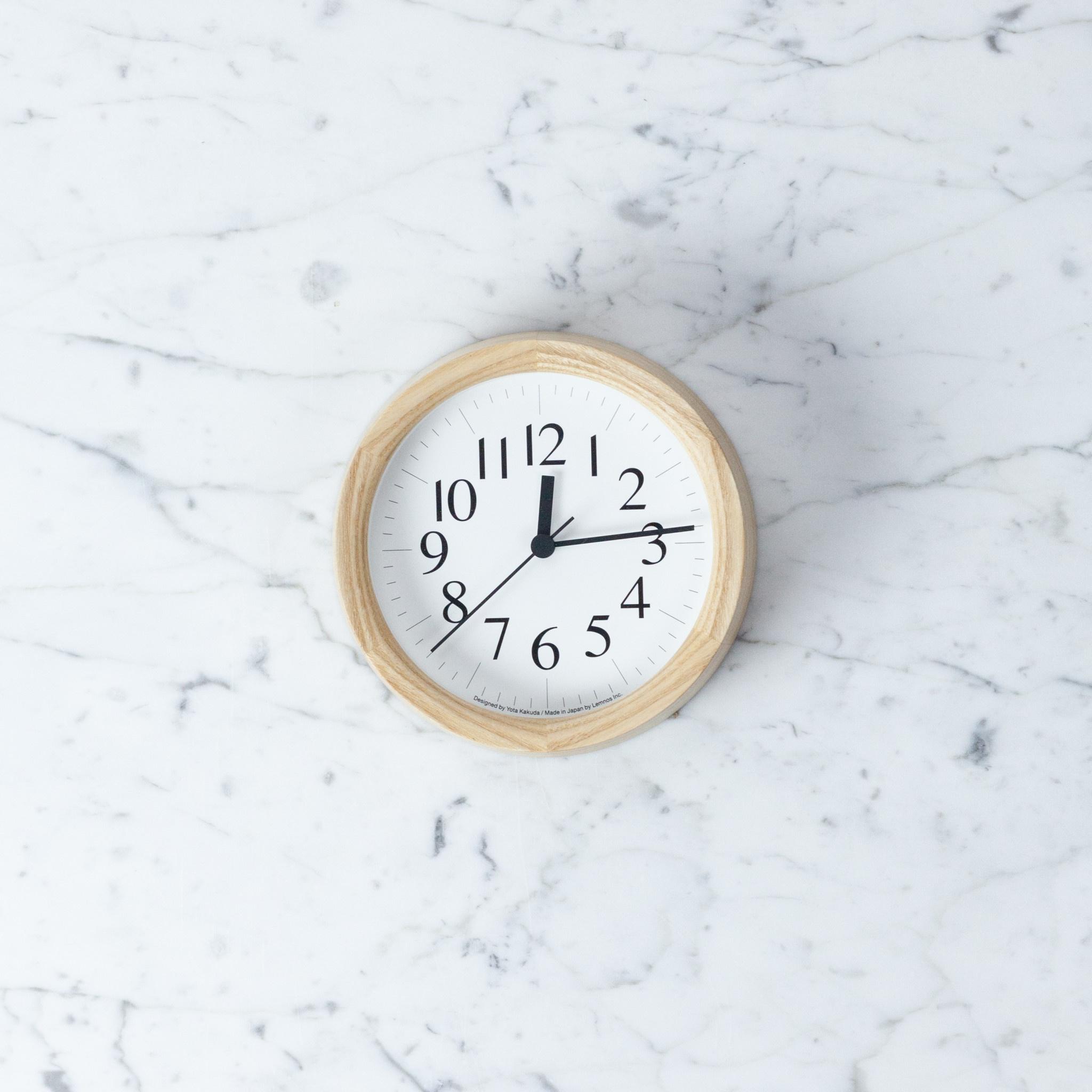 Japanese Clock B Small - Natural Ash