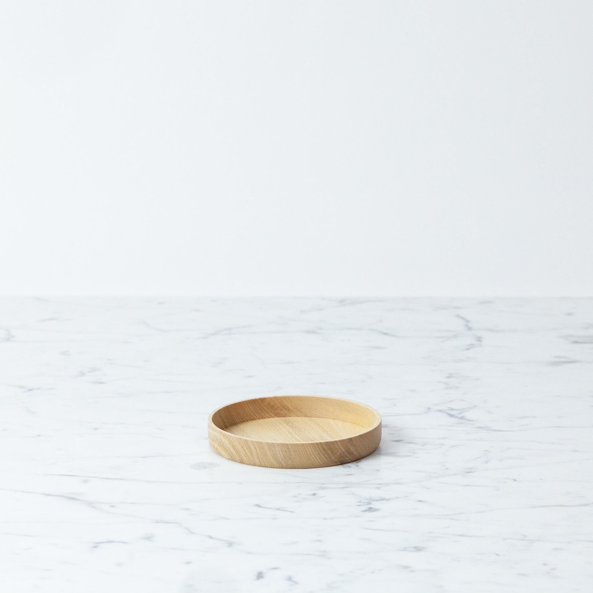 "KAMI Japanese Aralia Wood Dish - Large - 3.8"""