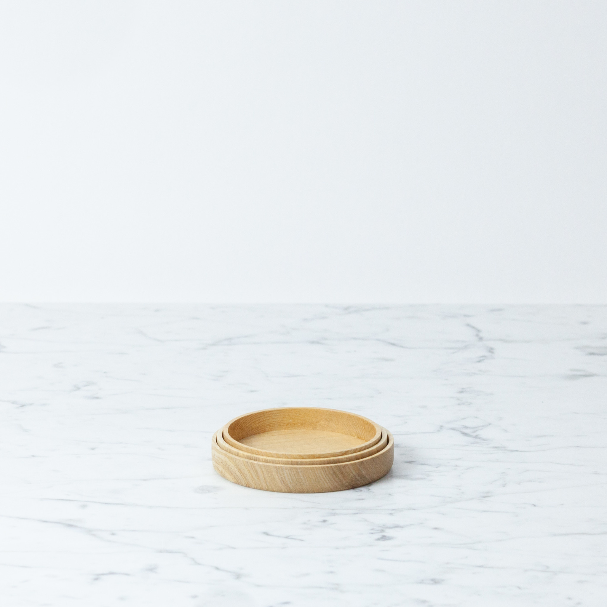 "KAMI Japanese Aralia Wood Dish - Small - 3.4"""