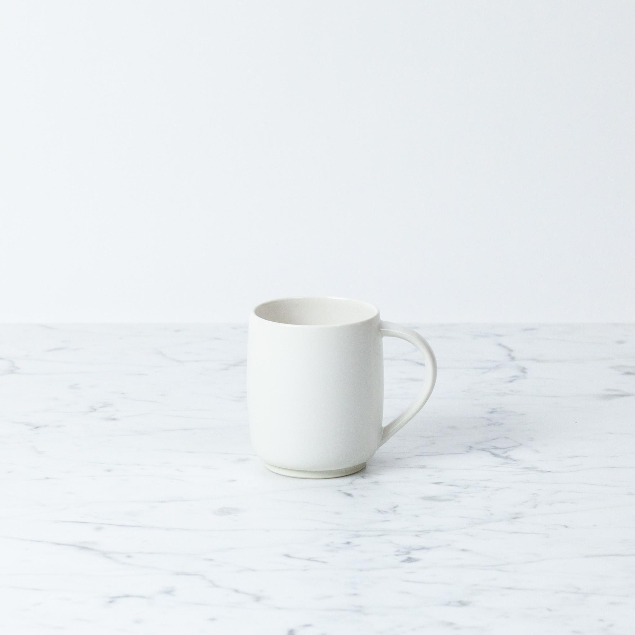 "SUSUMUYA Susumu Tea Mug with Handle - Small - White - 3.5"""