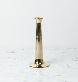 """Simple Candle Holder - Large - Brass - 10"""""""