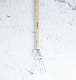"Sneeboer Hand Forged 7 Tine Long Leaf Rake - 68"""